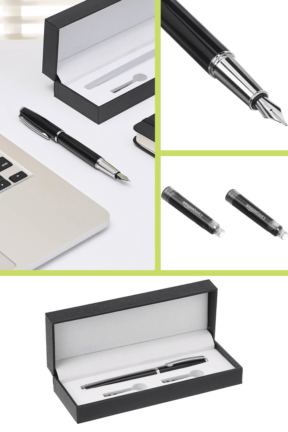 Refillable fountain pen combines a premium feel with smooth results for a luxurious writing experience.