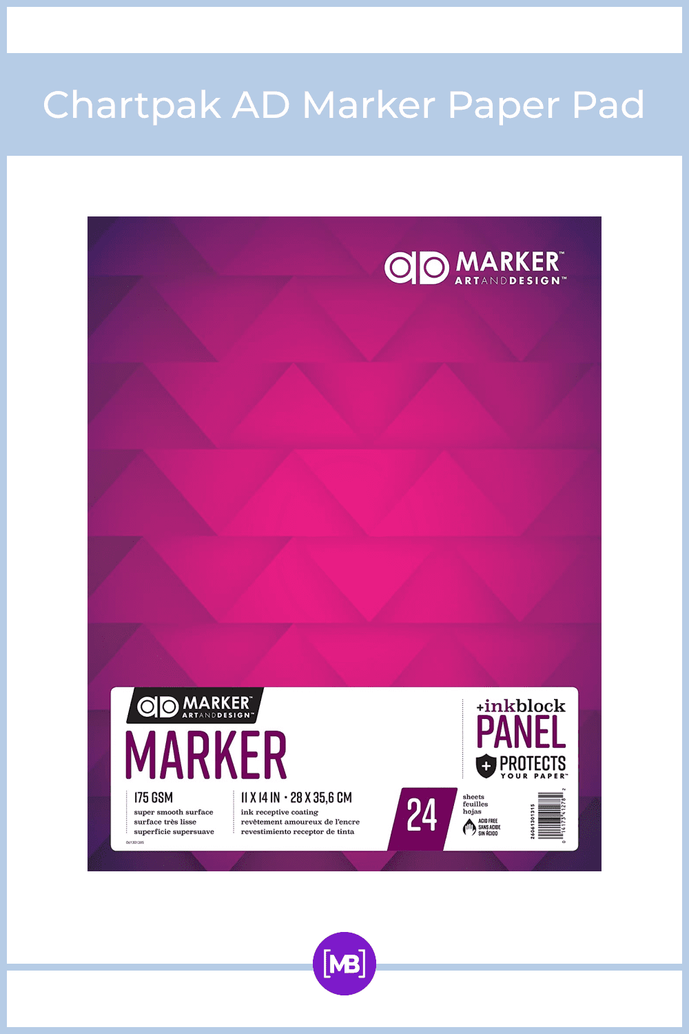 Bright white, smooth coated paper is ideal for marker rendering.