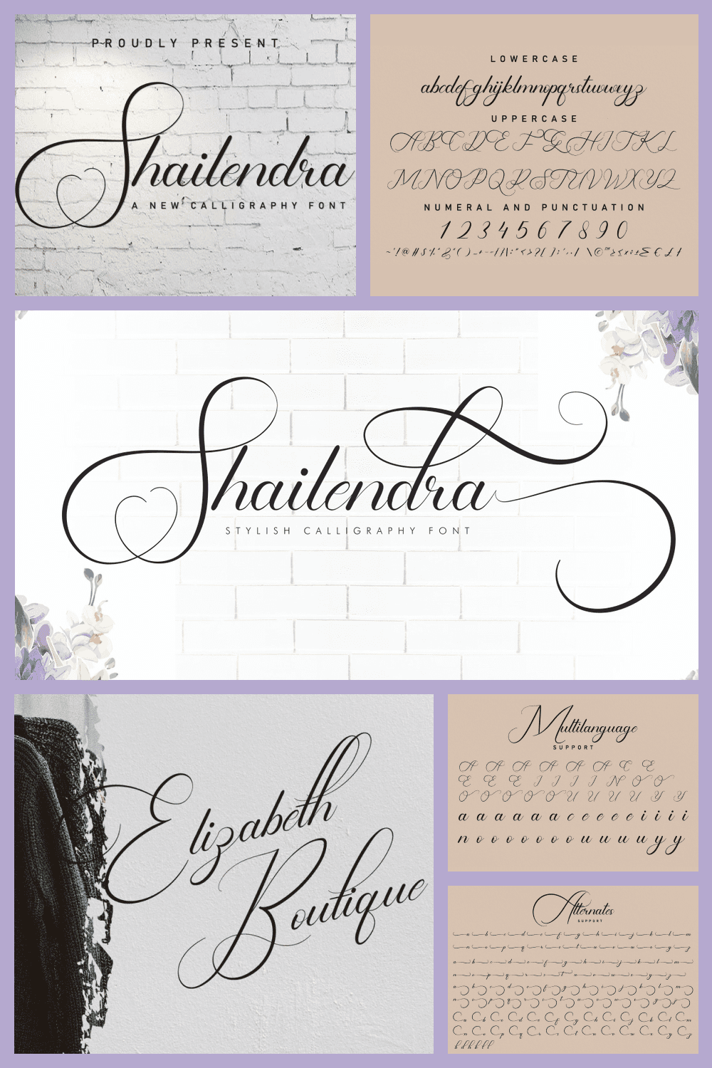 Such a delicate and cute swirl font.
