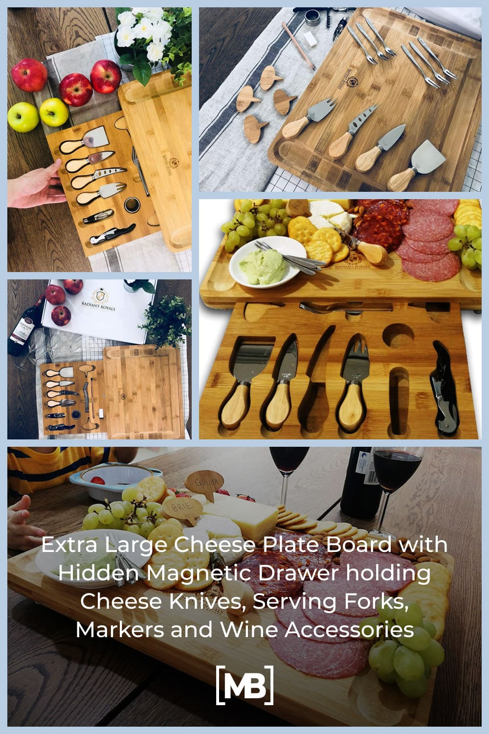 Radiant Royals always put your wishlist as top priority and as such, we are able to design and craft a cheese board set that exceeds current standards that go beyond expectations for your party and presentation needs.