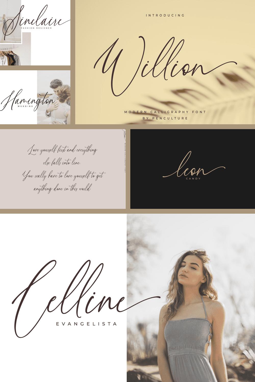Inspirational font for poems.