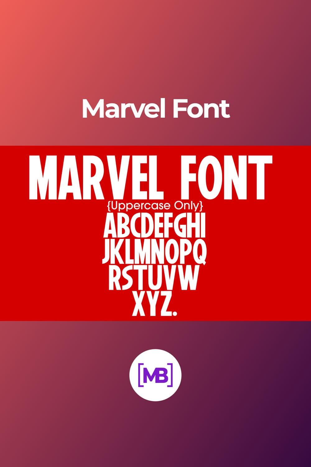 A font for real superheroes.
