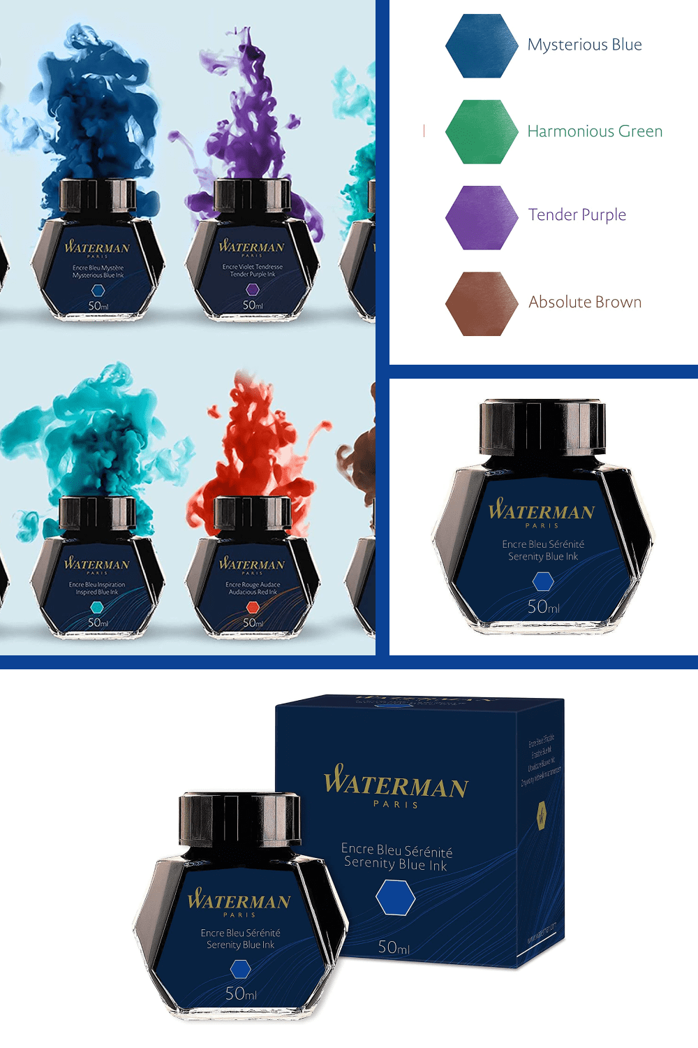 Revel in the classical method of writing with these high quality fountain pen inks.