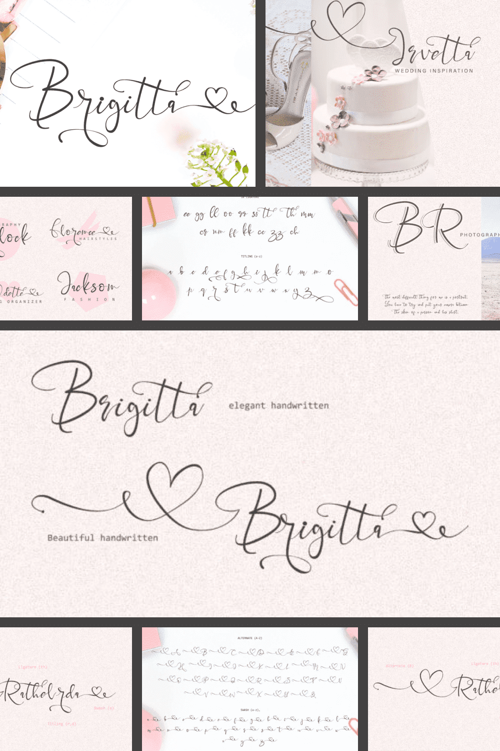 Soft and delicate font. Ideal for weddings and declarations of love.