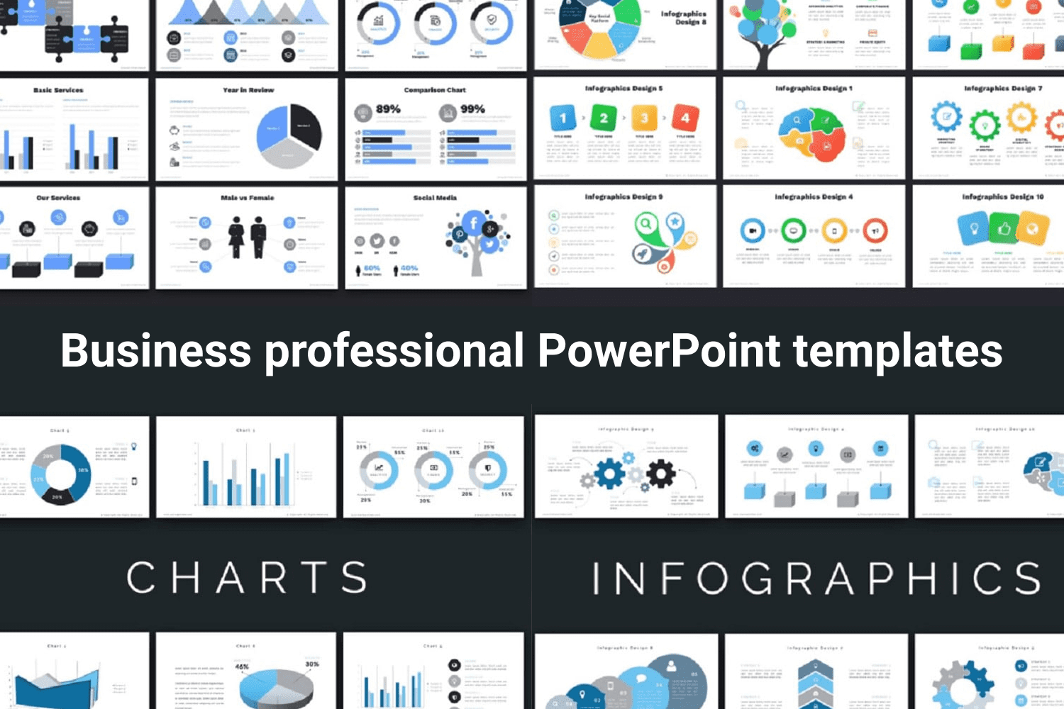 This is not just a template, it is a treasure trove of cool and stylish infographics that will fit coolly into your presentation.