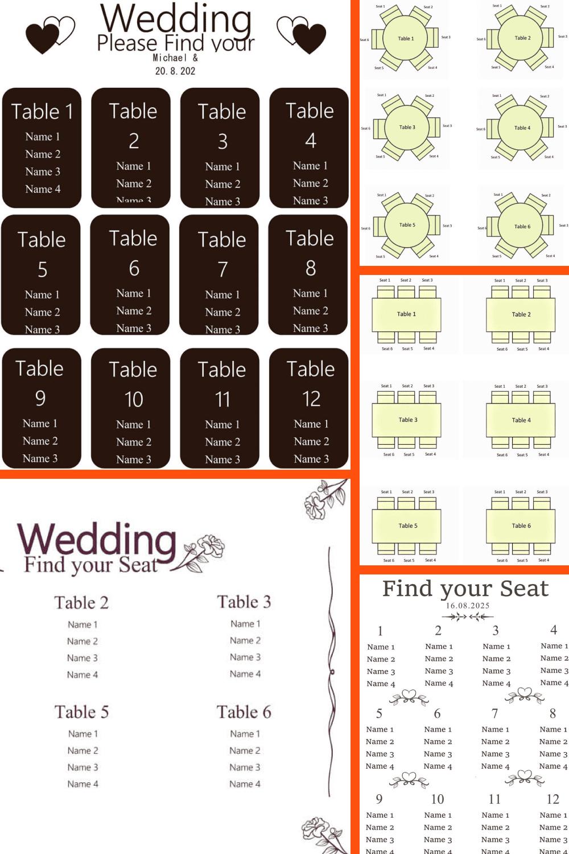 Wedding Seating Chart Template.