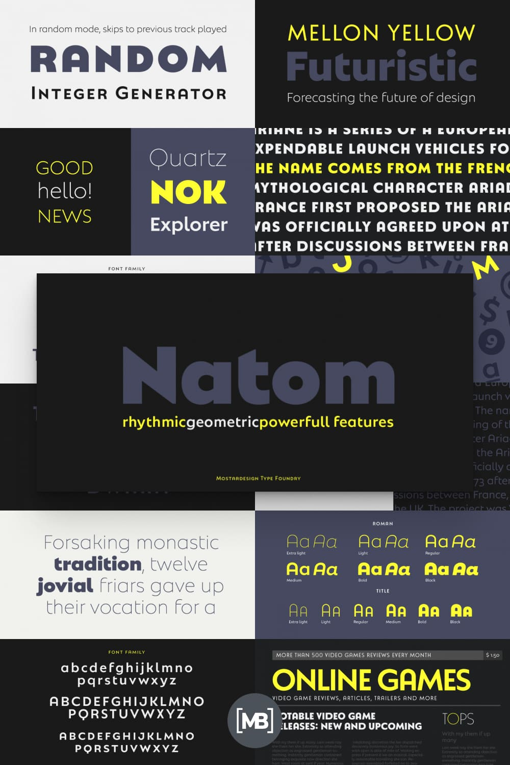 This is a modern and geometric font family adapted to the professional requirements of graphic designers, web designers and mobile application developers.