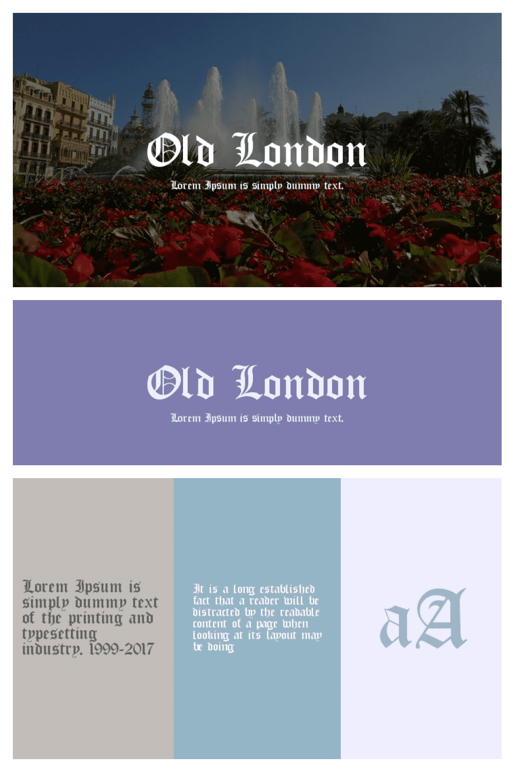A rocky, rich font to describe the sights of the British capital.