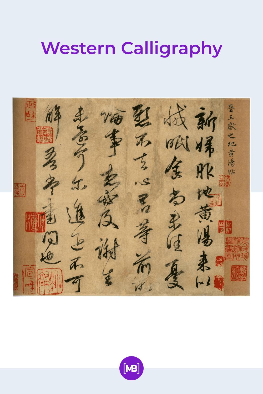 Western calligraphy.