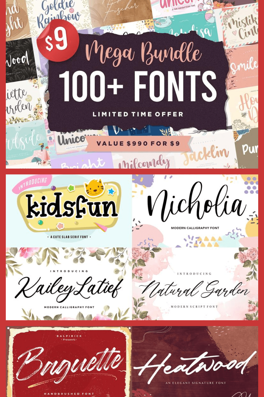 This is a large set of fonts for all occasions.
