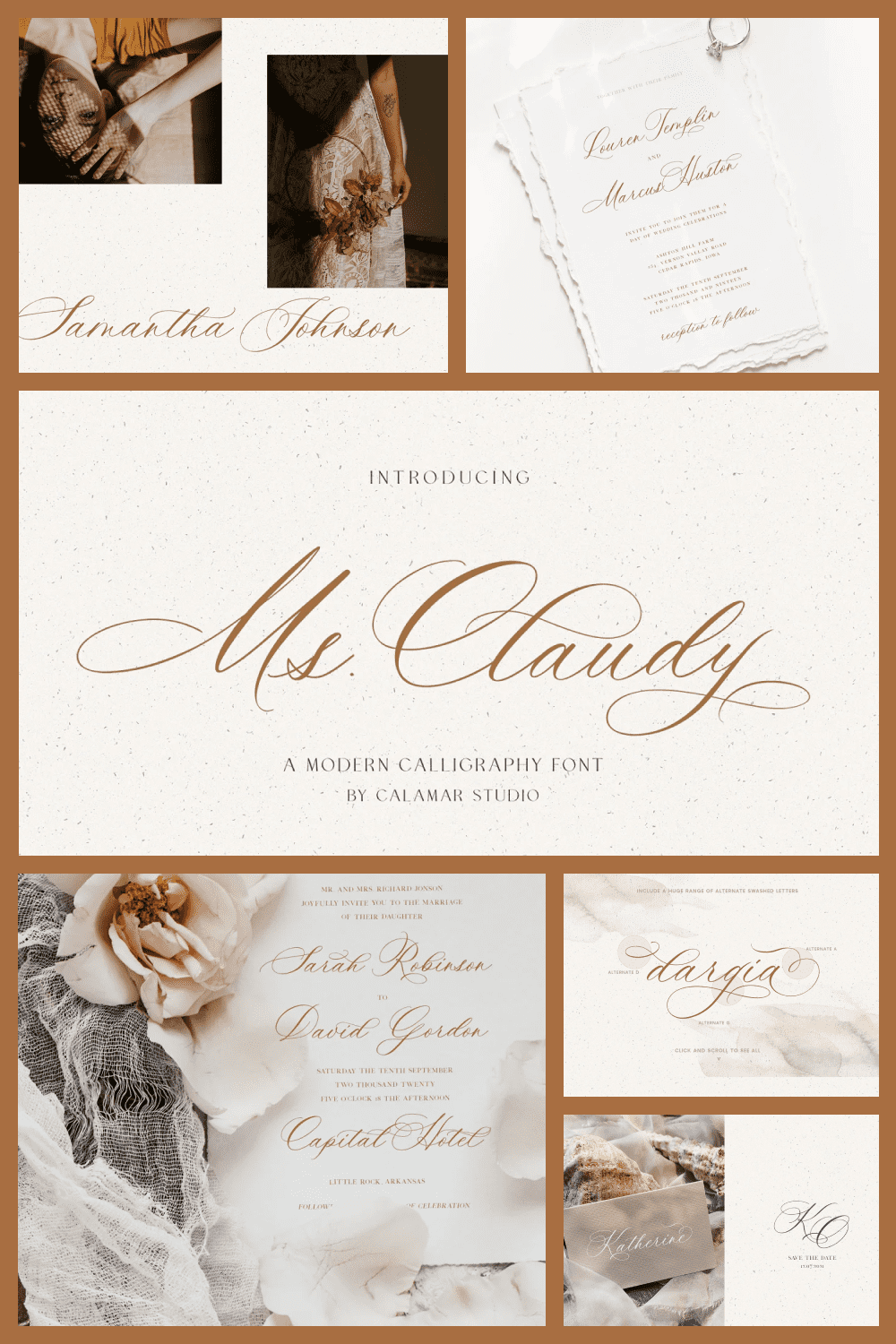 This font is ideal for wedding ceremonies. It is delicate and luxurious.