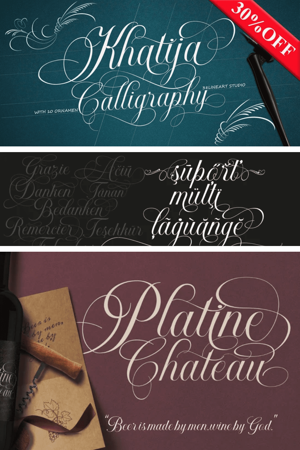 Lots of curls in this font in italics.