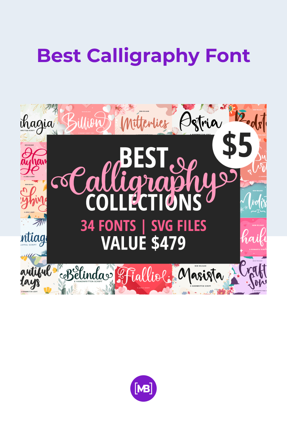 Bold and bright font. This is a great option for signing Valentine's Day cards.