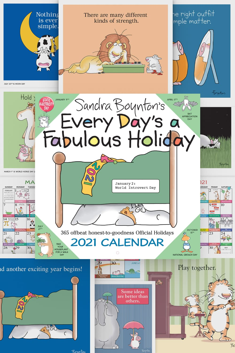 Every Day's a Fabulous Holiday combines two things people love: Sandra Boynton's humorous animal illustrations and holidays.