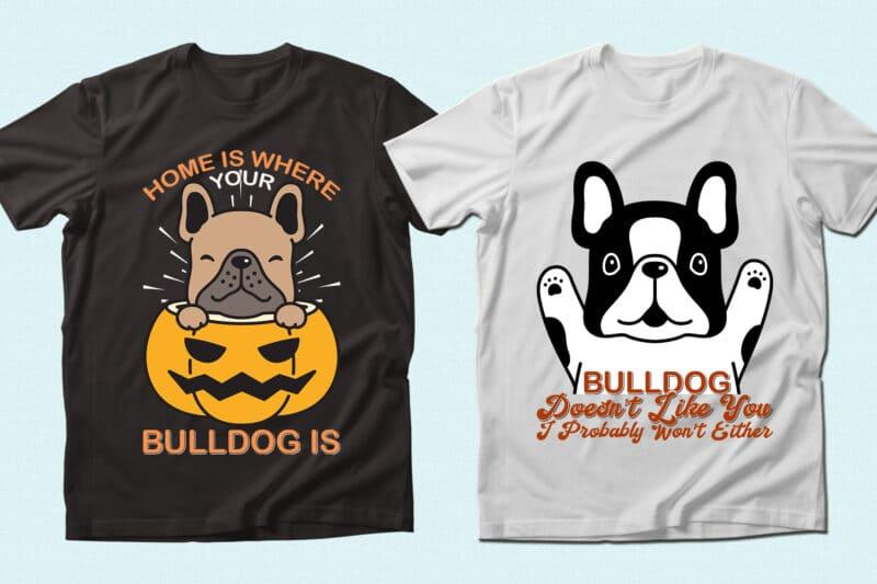 The cutest t-shirt with bulldog.