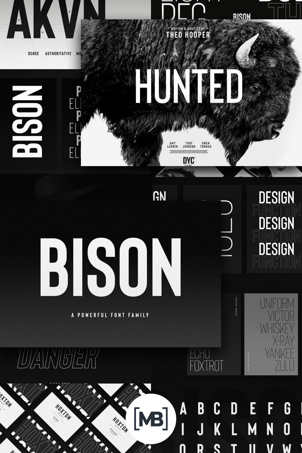 This is a strong font family and sophisticated sans serif.