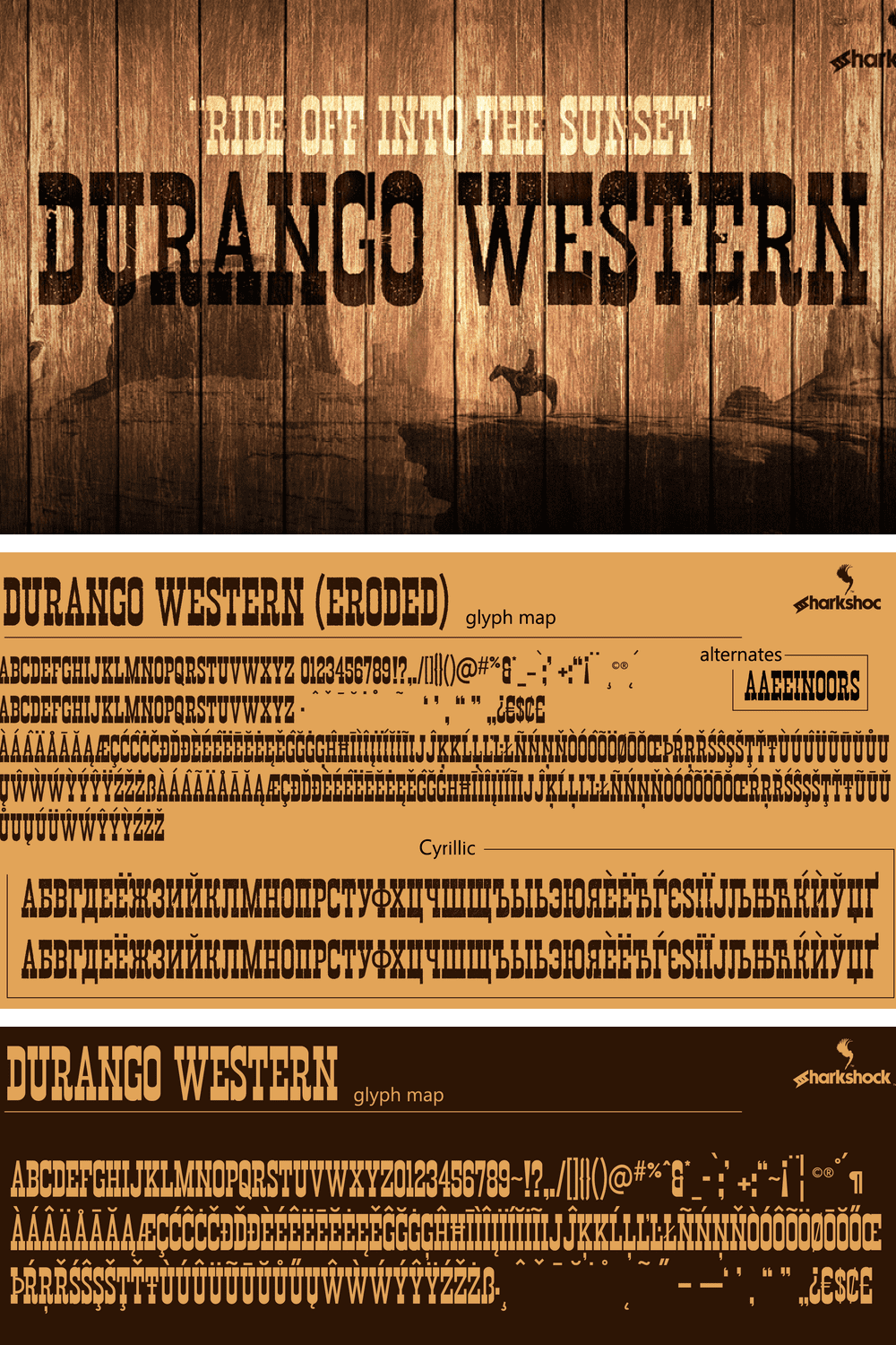 Font on wood with cowboy background. This is for bold and adventurous ideas.