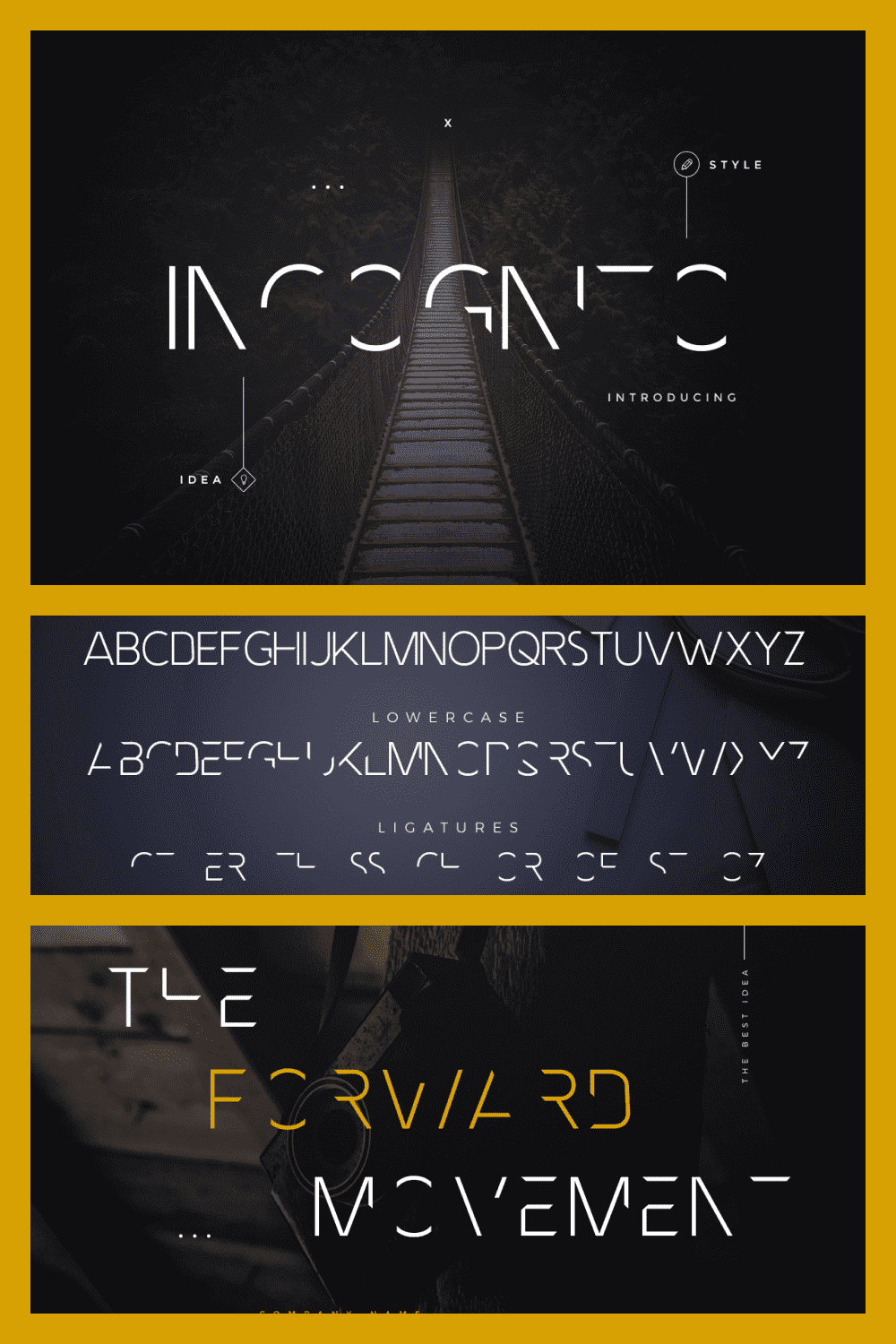 A font for fantastic movies and something mystical.