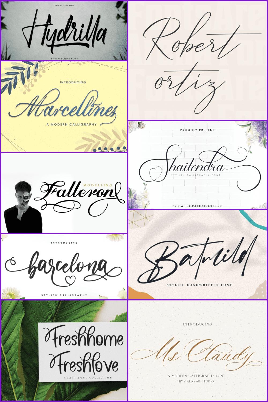 Calligraphy fonts Pinterest.