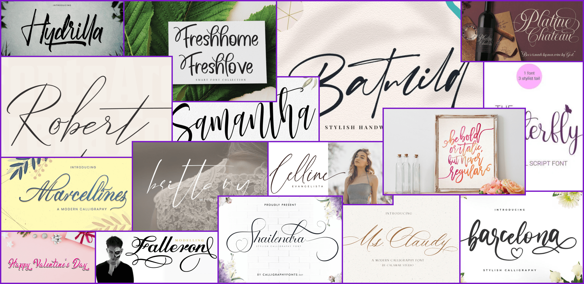 45 Best Calligraphy Fonts in 2021 Example.