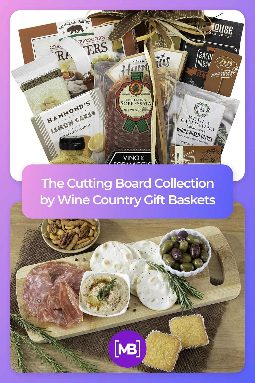 Wine country gift baskets gourmet cheese and salami gift.