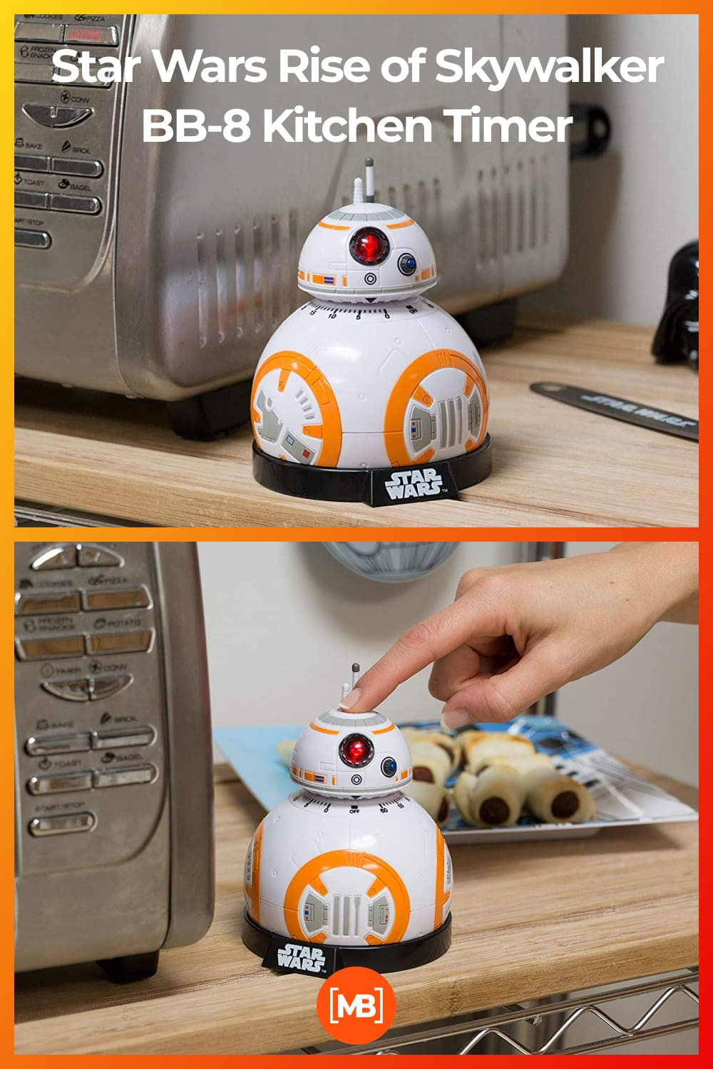 Have a trusty droid companion at home with the Star Wars BB-8 Kitchen Timer with lights and sounds.