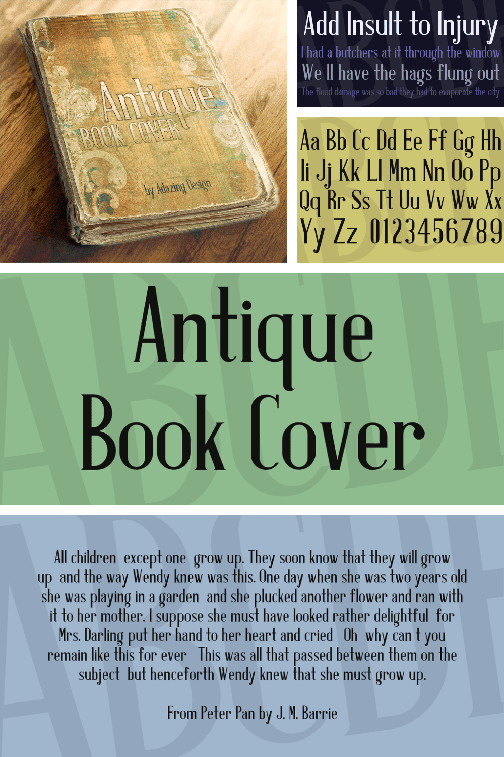 A wonderful font for old books.