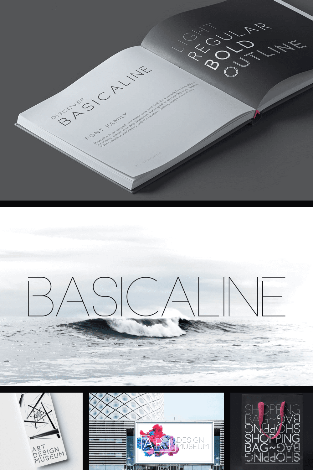 Thin font with a light touch.