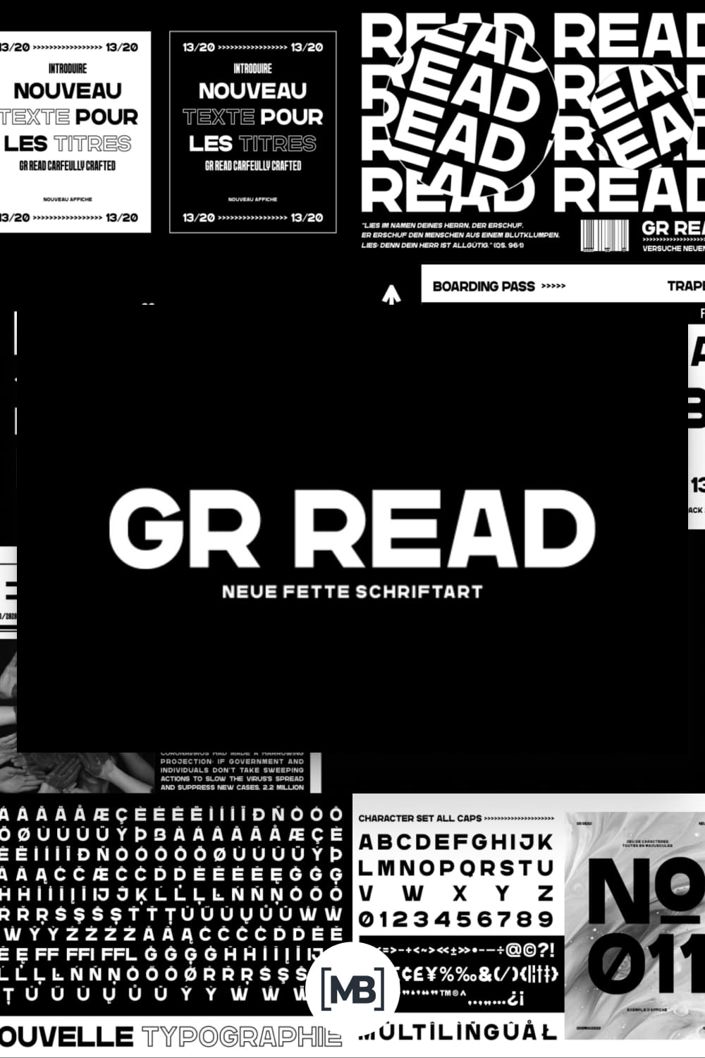 Bold and lined typeface for a modern feel.