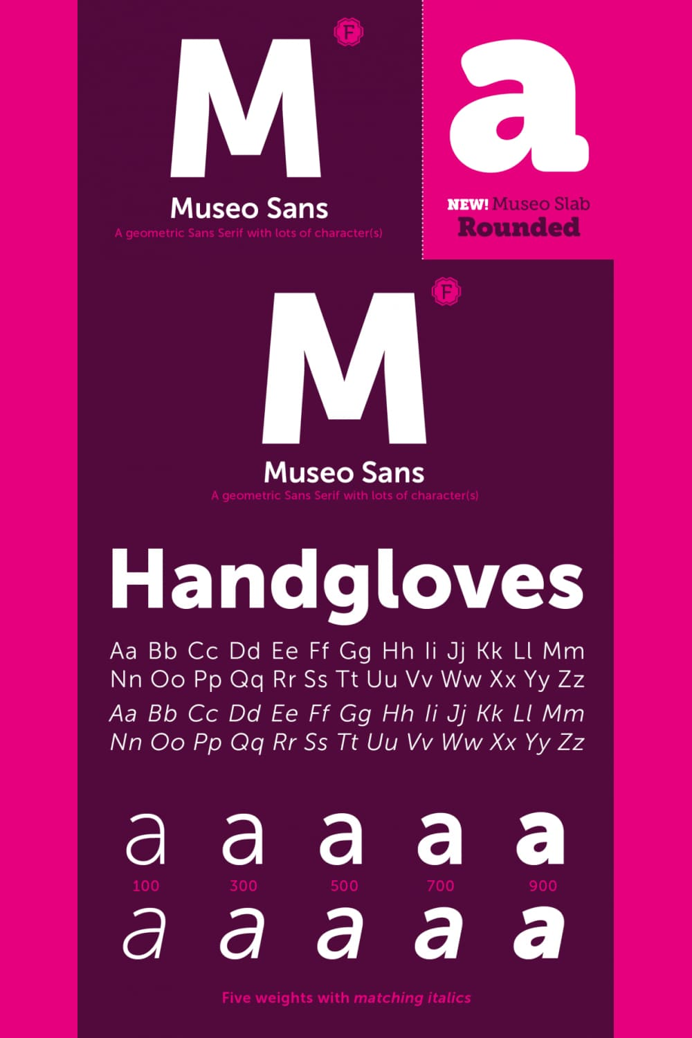 It is a sturdy, low contrast, geometric, highly legible sans serif typeface very well suited for any display and text use.