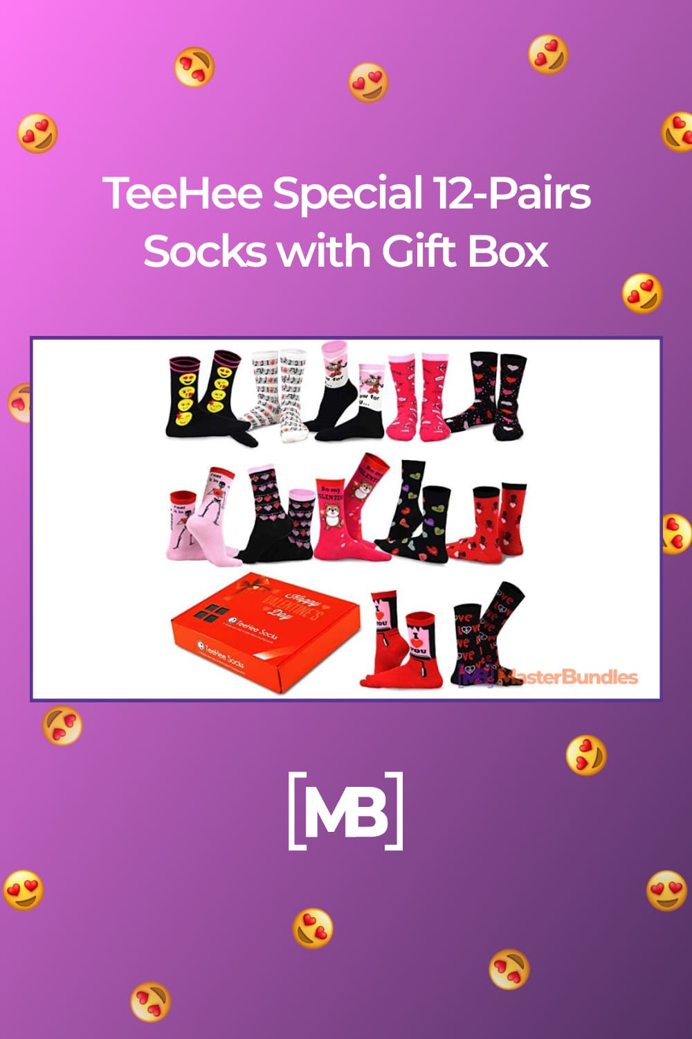 Gift Box includes 12 pairs of socks packaged neatly into a special-event gift box that matches the socks inside.