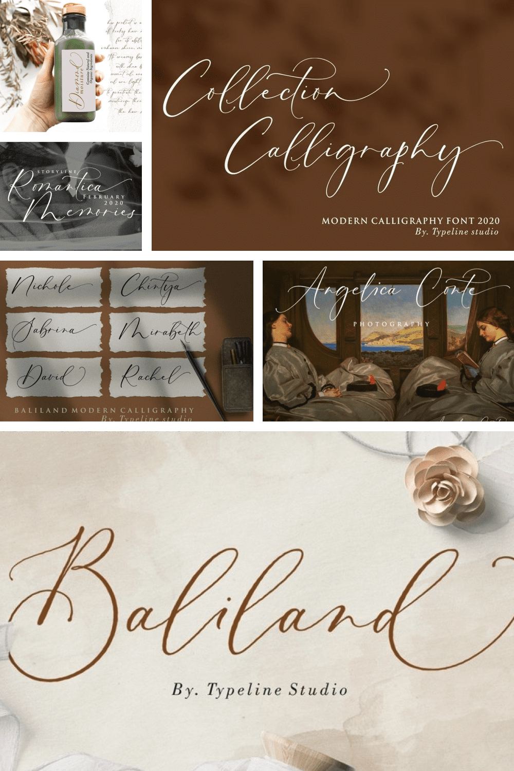 This is a modern Calligraphy font ant Baliland is inspired by the beauty of Bali insland which is full of romance.