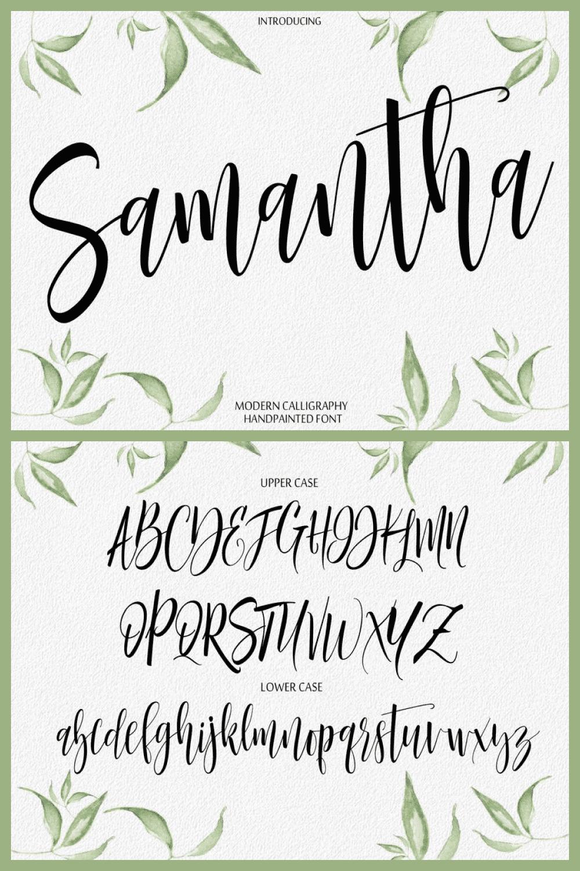 Digital Font Calligraphy Script.