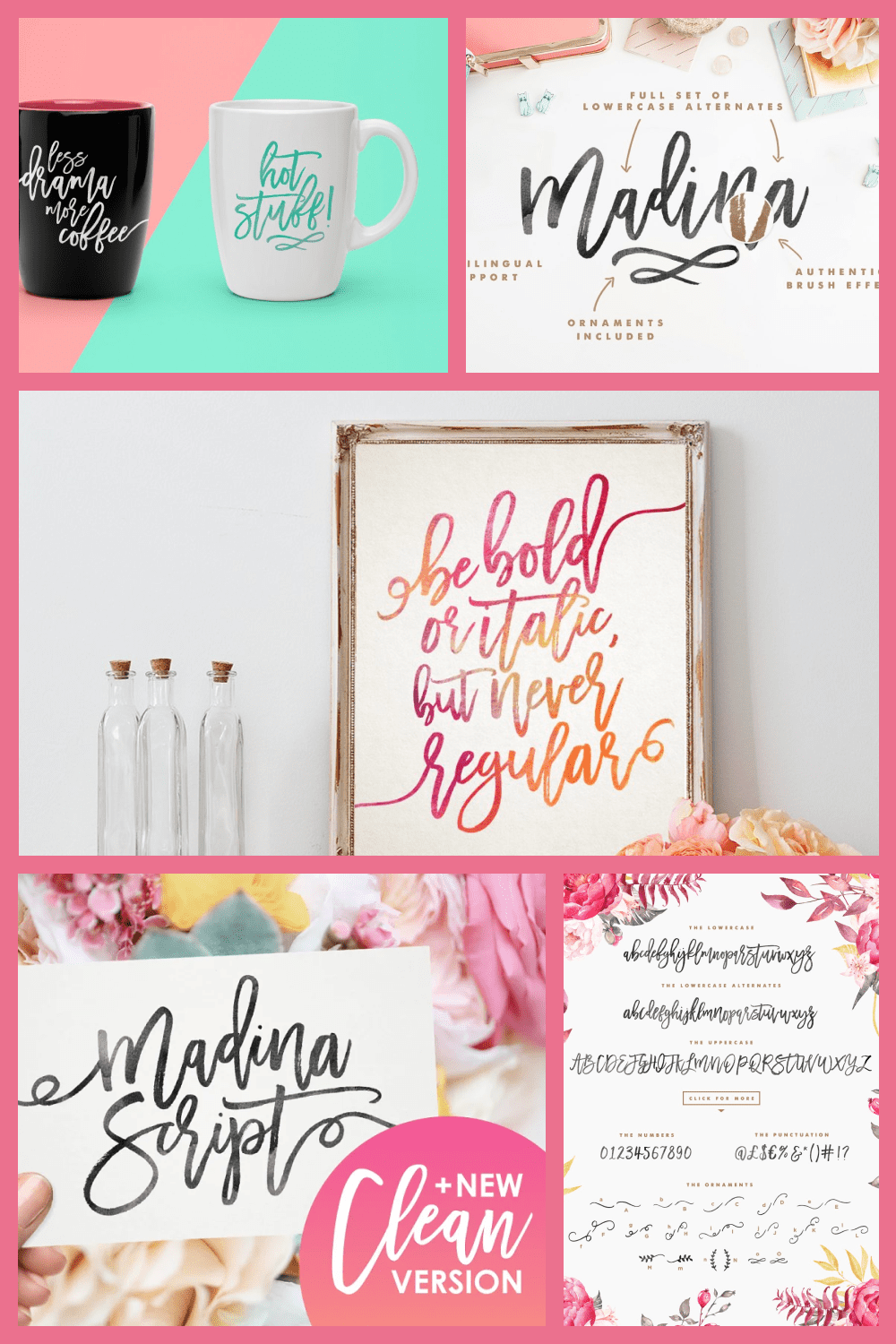 A fabulously fun yet elegant script font with tons of energy, allowing you to create beautiful hand-made typography in an instant.