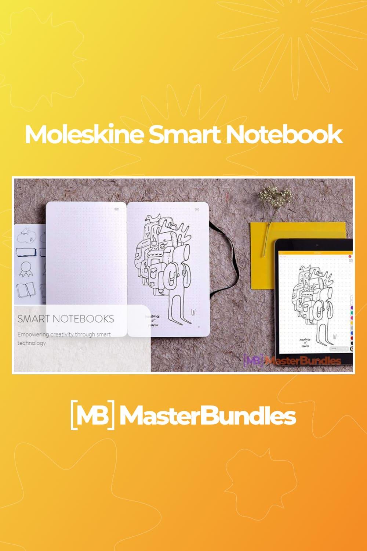 Moleskine smart notebook.