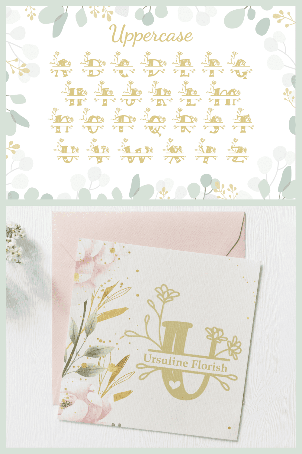 This font is springtime inspiration and grace.