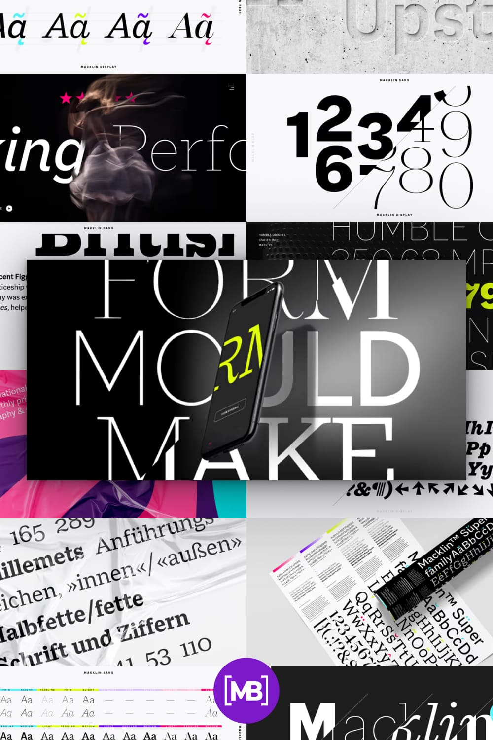 This is a collection of stylish and elegant fonts.