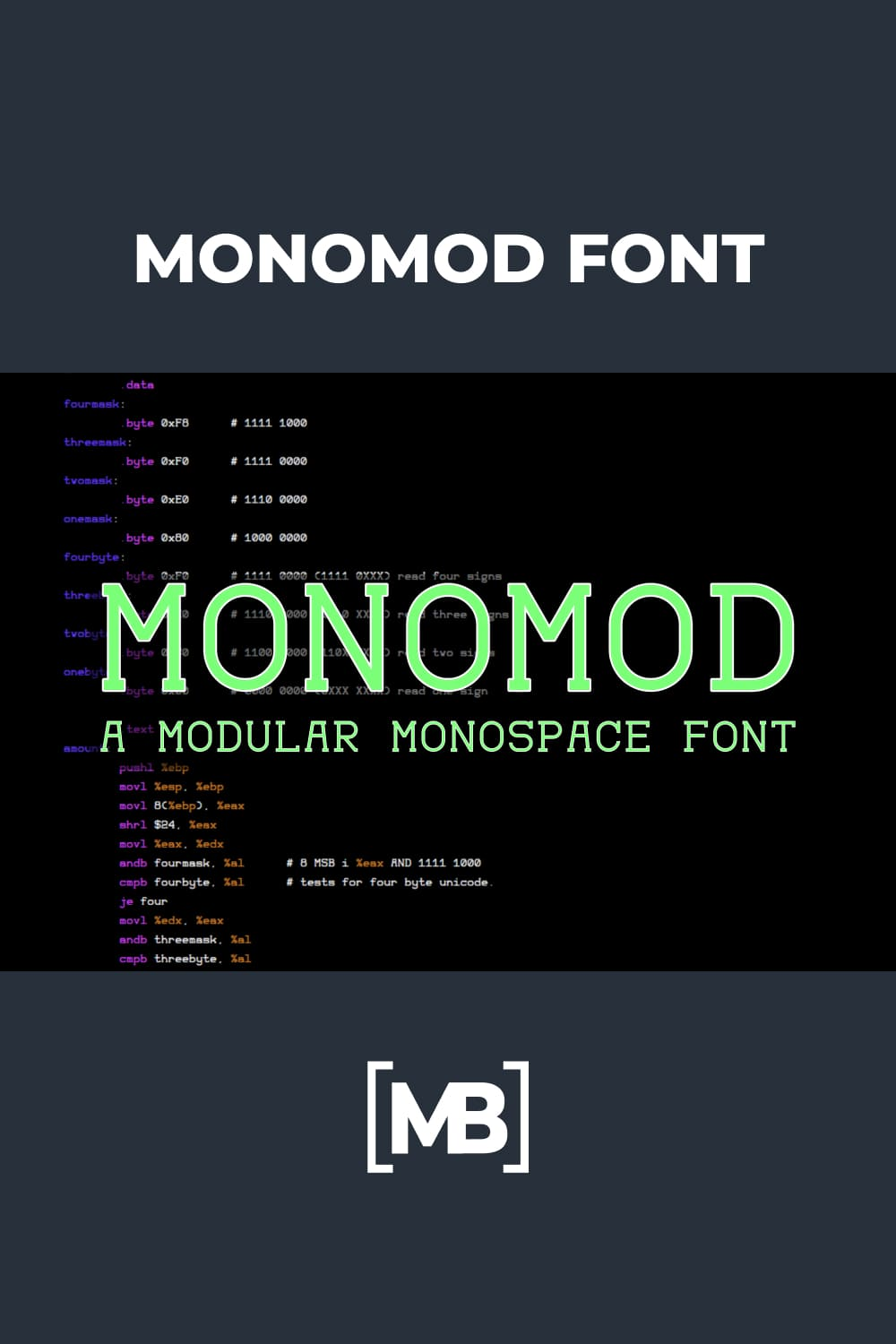 This is simple modular monospace font.