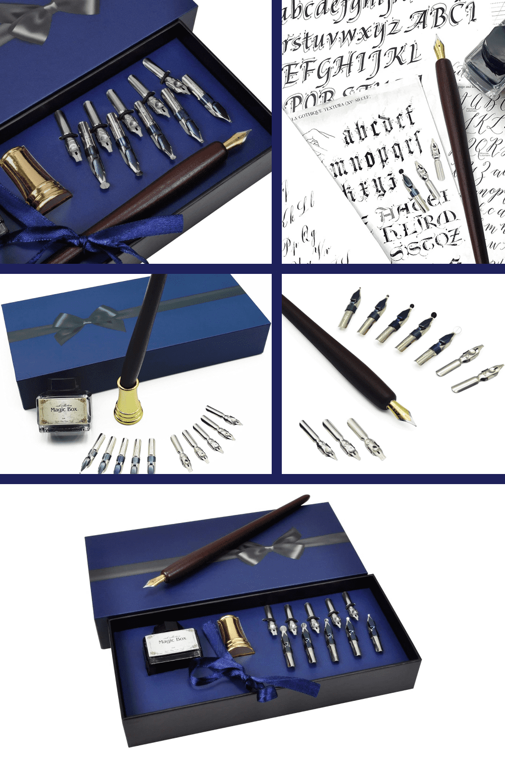 Dip pen nibs provide superior control and stability delivering smoothness and an easy ink flow.