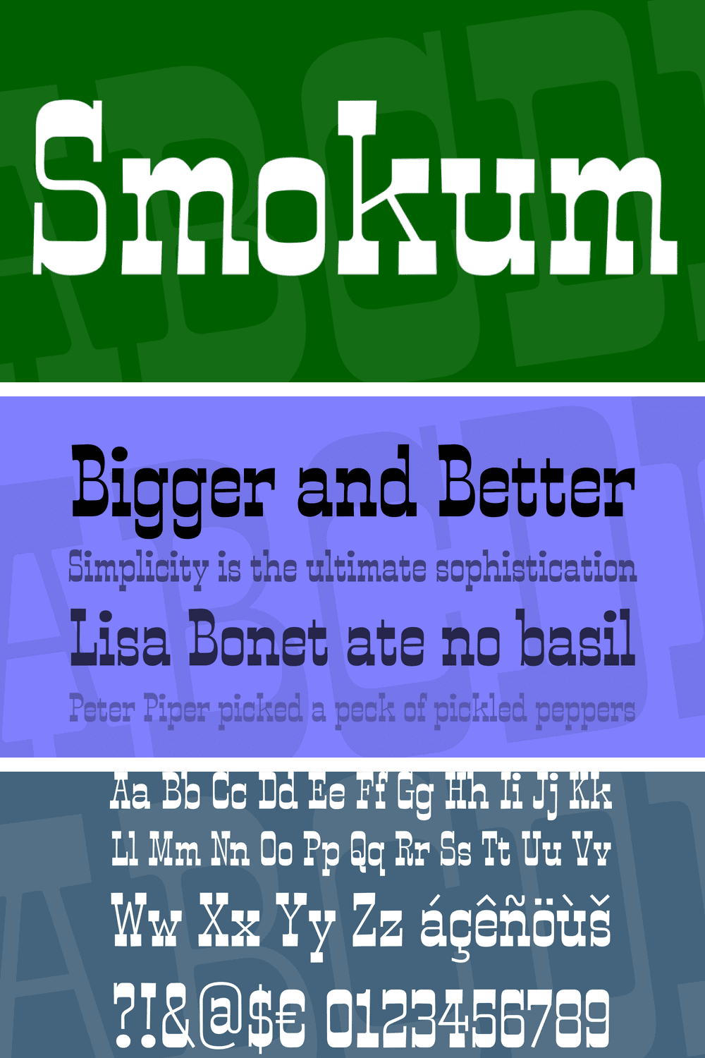 This is a western inspired slab-serif font with a little playful swagger to it.