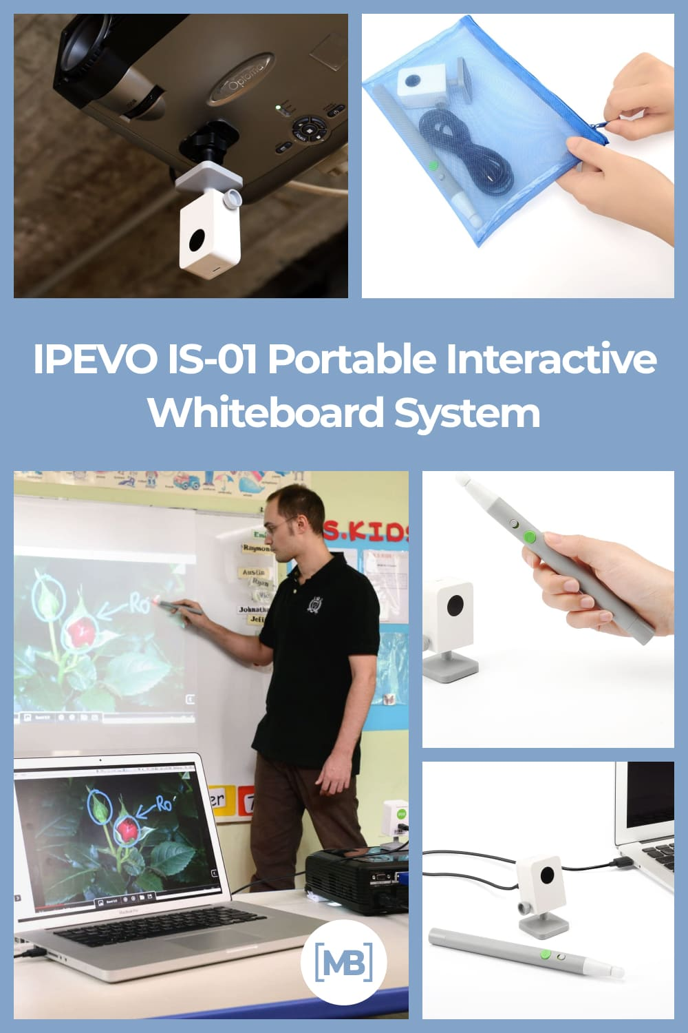 Turn your existing whiteboard or projector surface into an interactive whiteboard.