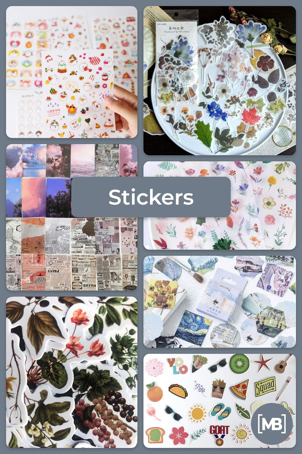 Stickers is a modern gift for hipster.