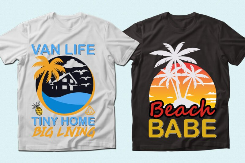 Tropic t-shirts with palms.
