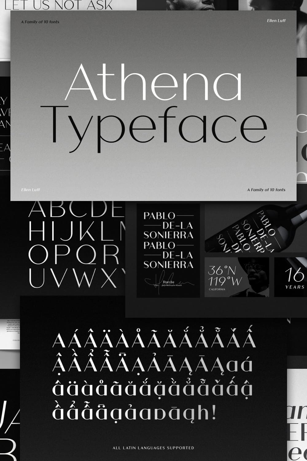 This font is a modern take of the old didone genre, confidently playing with extremes of thick strokes and whisper thin curves.