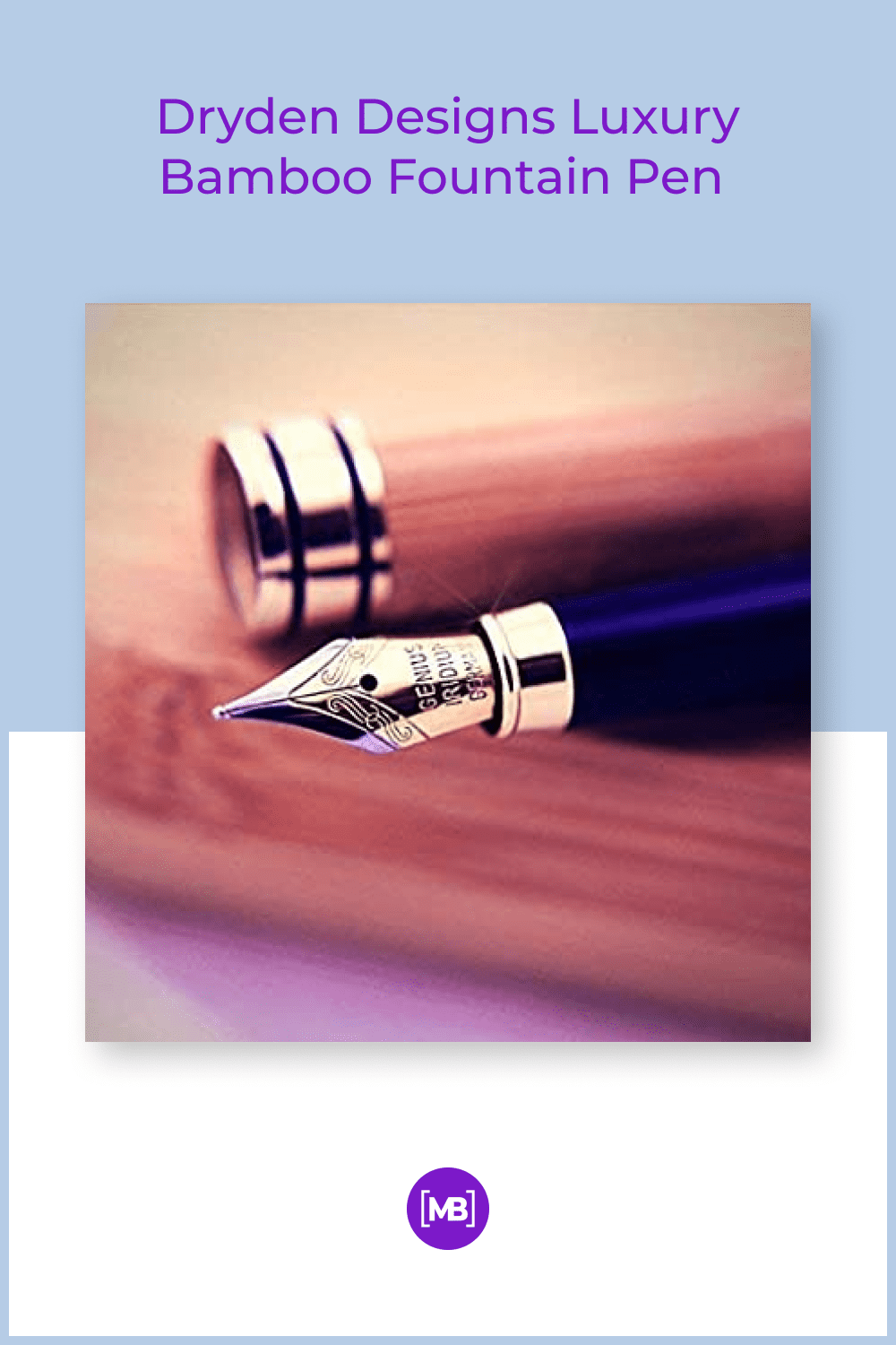 No blotching, skipping or bleeding ensures quality writing every time you pick up this Dryden Bamboo fountain pen.