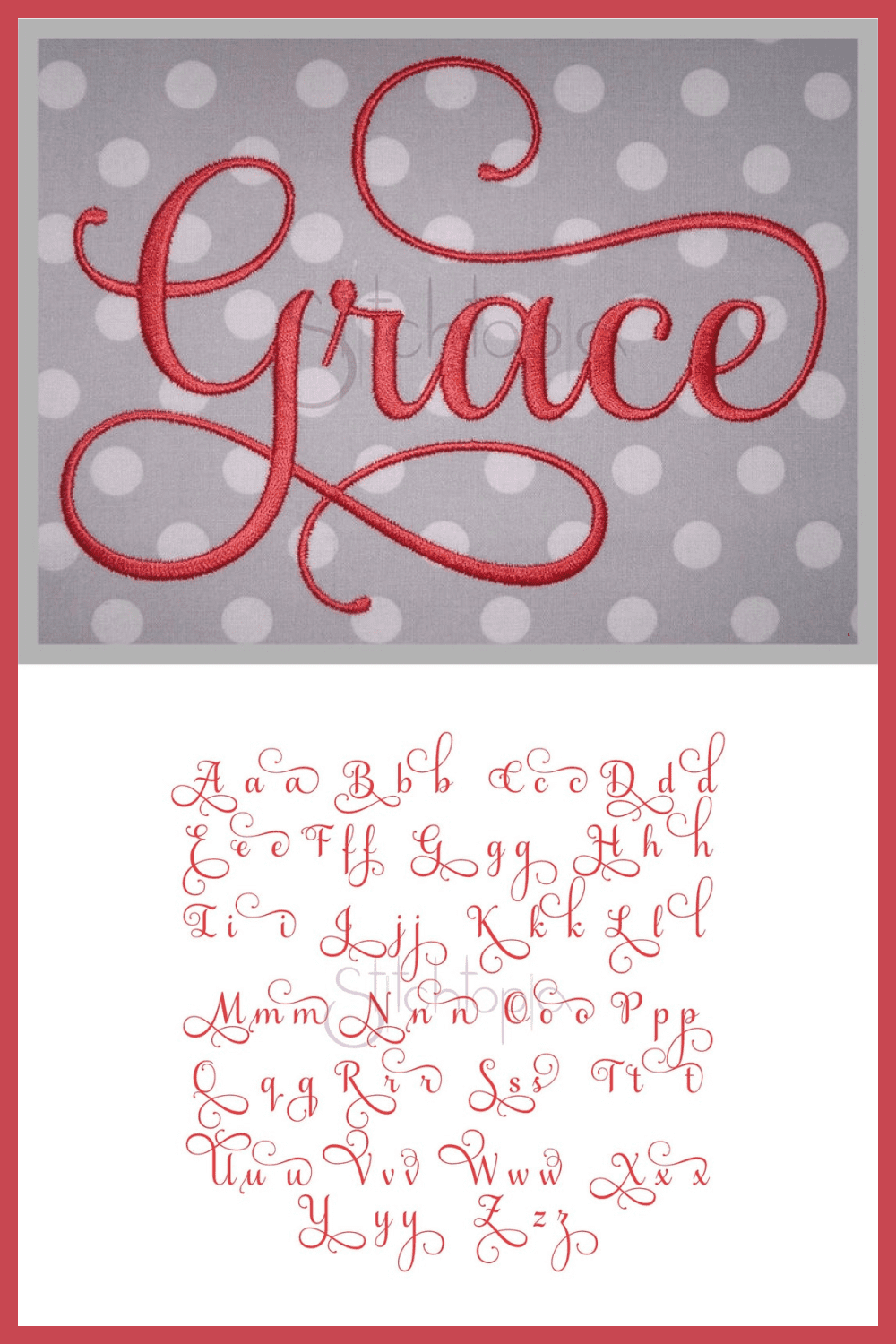 An exquisite and noble font, which is like embroidered with expensive threads.