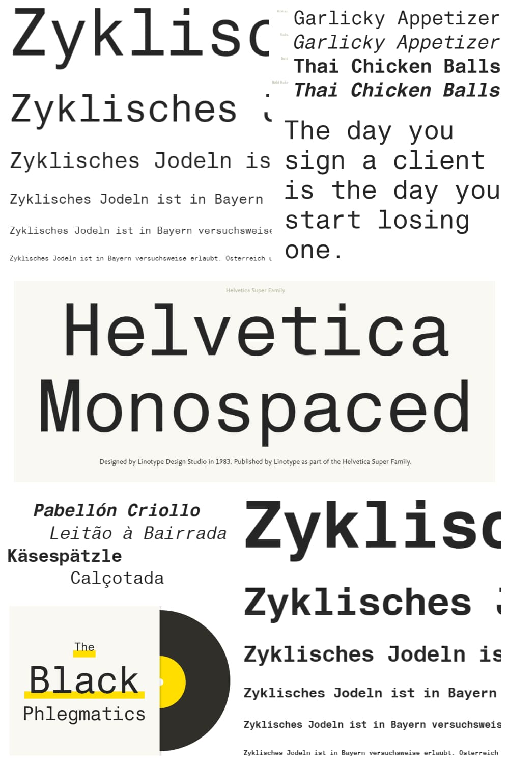 The most versatile, stylish, interactive font that exists in two colors at the same time.