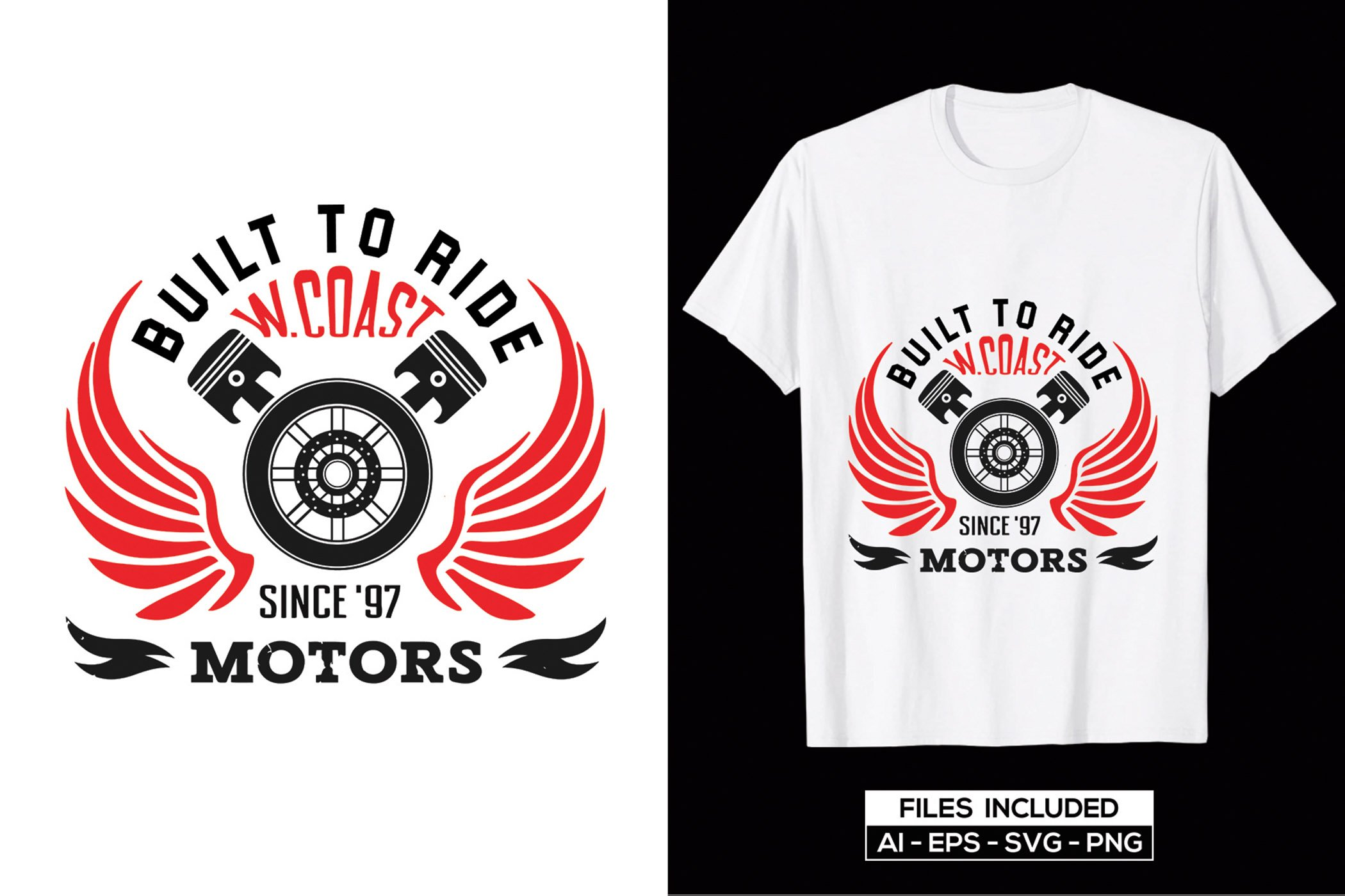 Crisp graphics in the form of motorcycle internals, etc. quality white t-shirt.