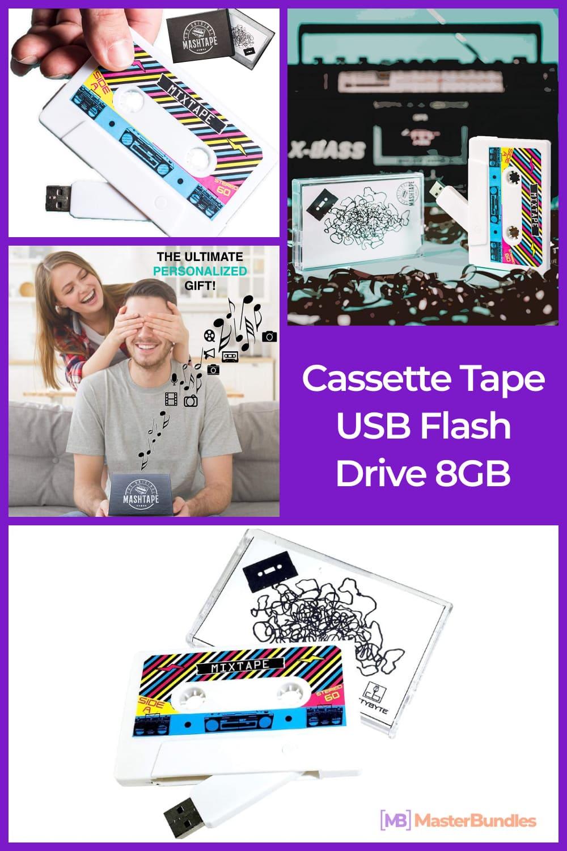 Cassette Tape USB Flash Drive 8GB.