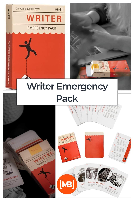 Writer emergency pack.